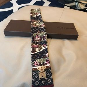 Louis Vuitton Monogram Silk Bandeau Scarf